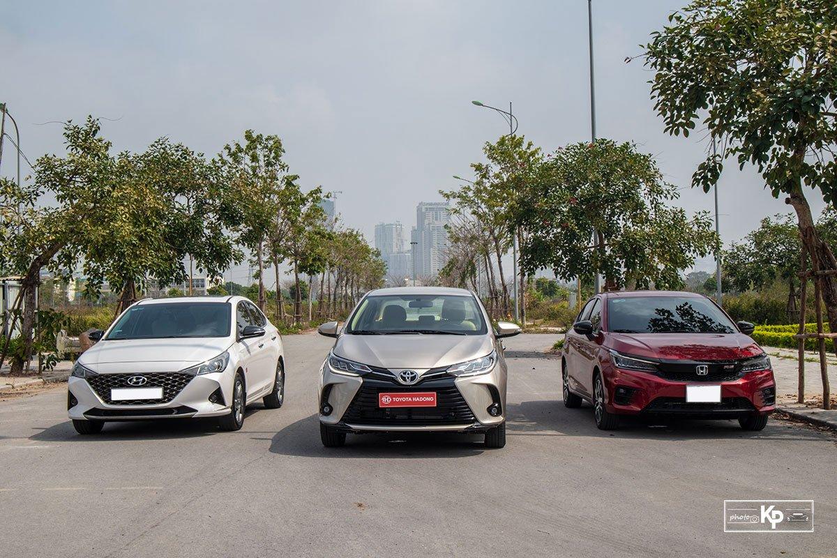 Toyota Vios tiếp tục sụt giảm trong phân khúc sedan hạng B tháng 2/2021.
