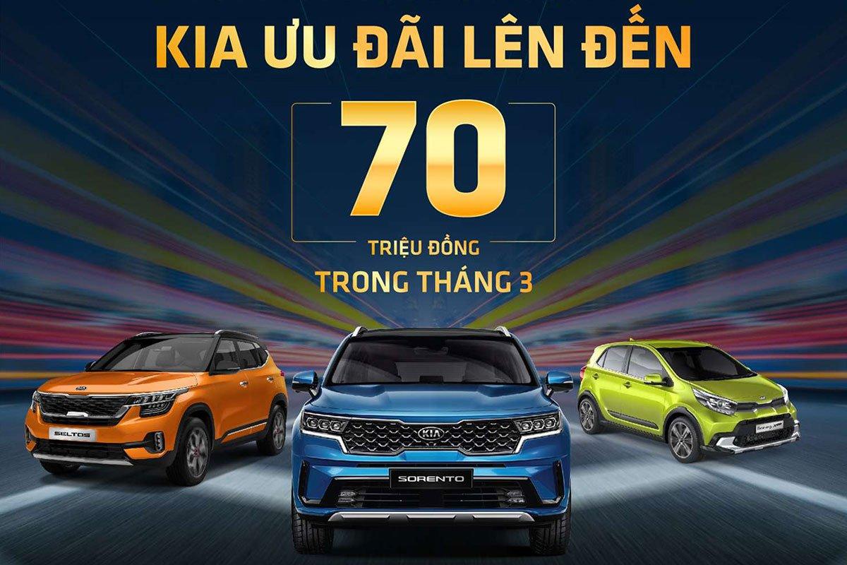 Kia Việt Nam ưu đãi lên tới 70 triệu đồng trong tháng 03/2021 1