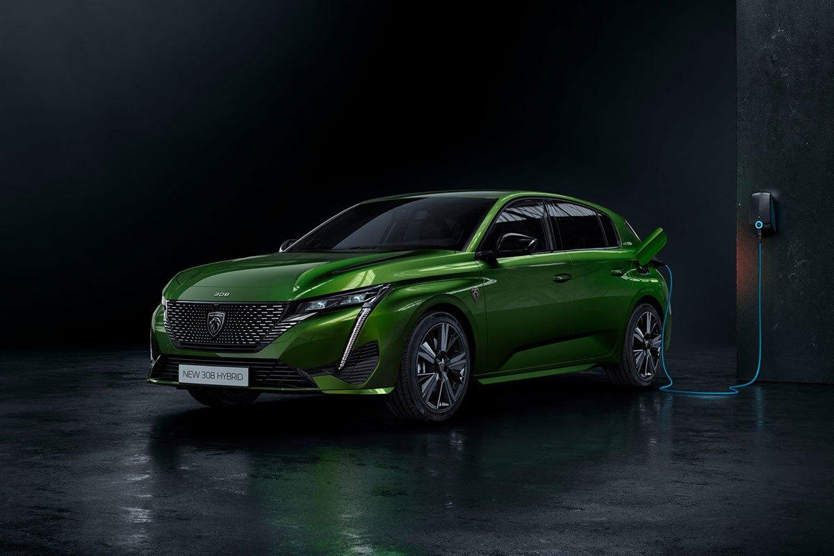 Peugeot 308 2021 có hai tùy chọn hybrid sạc điện 1