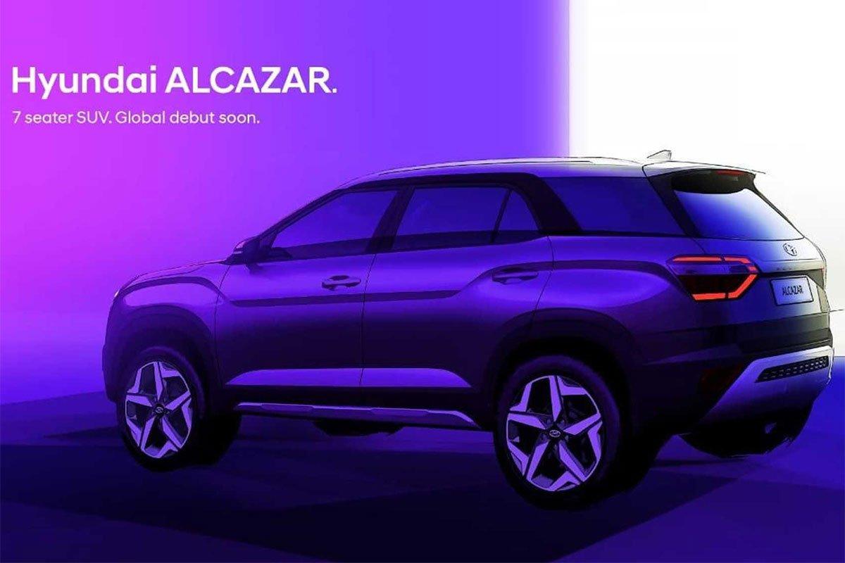 Bản phác thảo ngoại thất xe Hyundai Alcazar 1