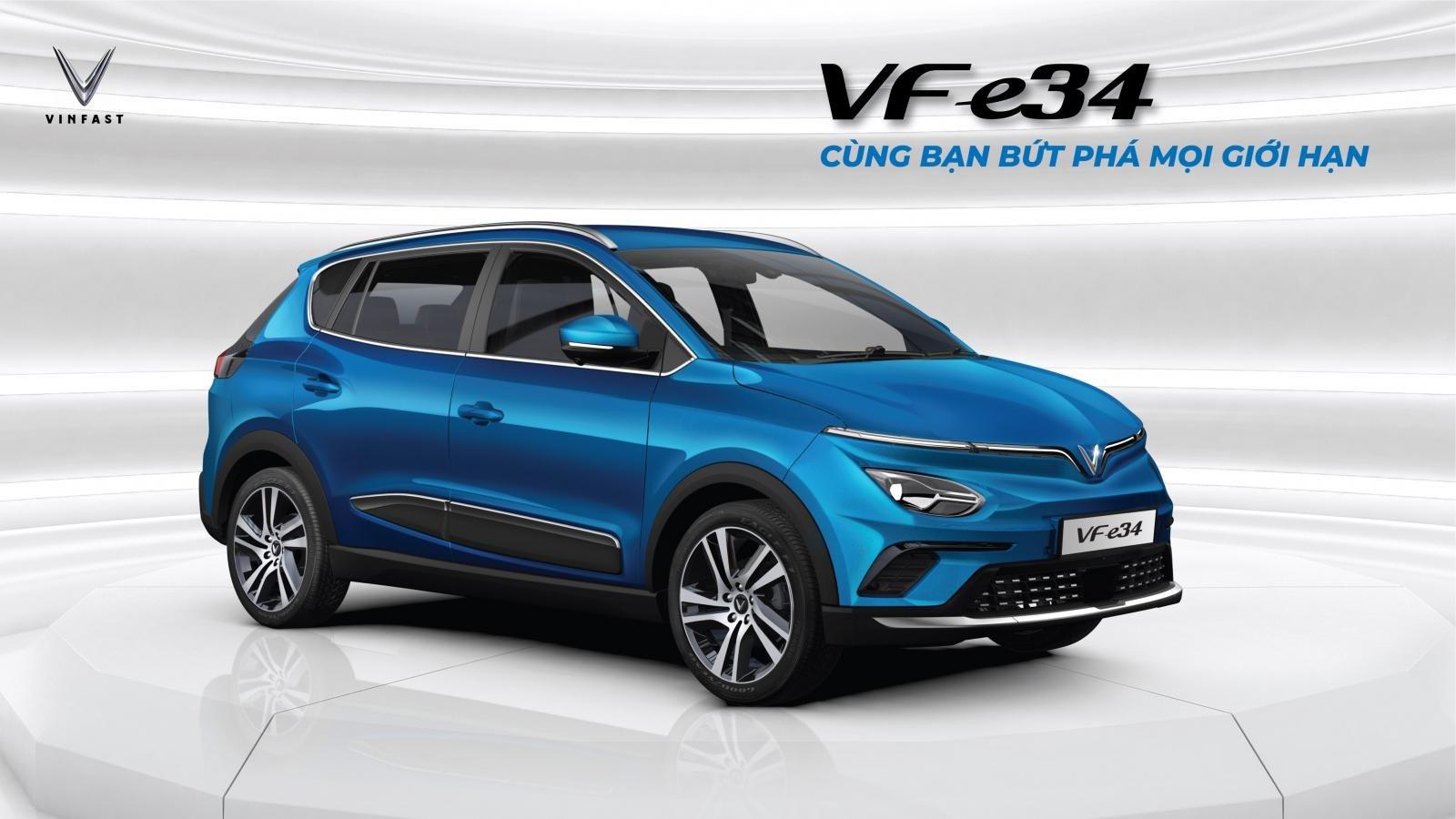 """mẫu xe điện đầu tiên của VinFast là VF e34 đã nhận được lượng đặt hàng """"khủng"""" 3.692 đơn."""