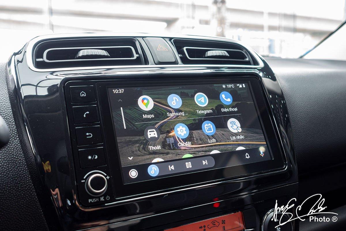 Màn hình giải trí 7 inch trên Mitsubishi Attrage 2021 tương tự như bản đang bán tại Thái Lan.