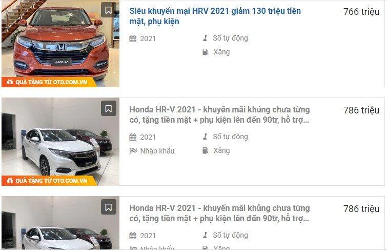 """Honda HR-V tại đại lý giảm giá 130 triệu đồng, khách có sẵn sàng """"quên"""" Kia Seltos? 1"""