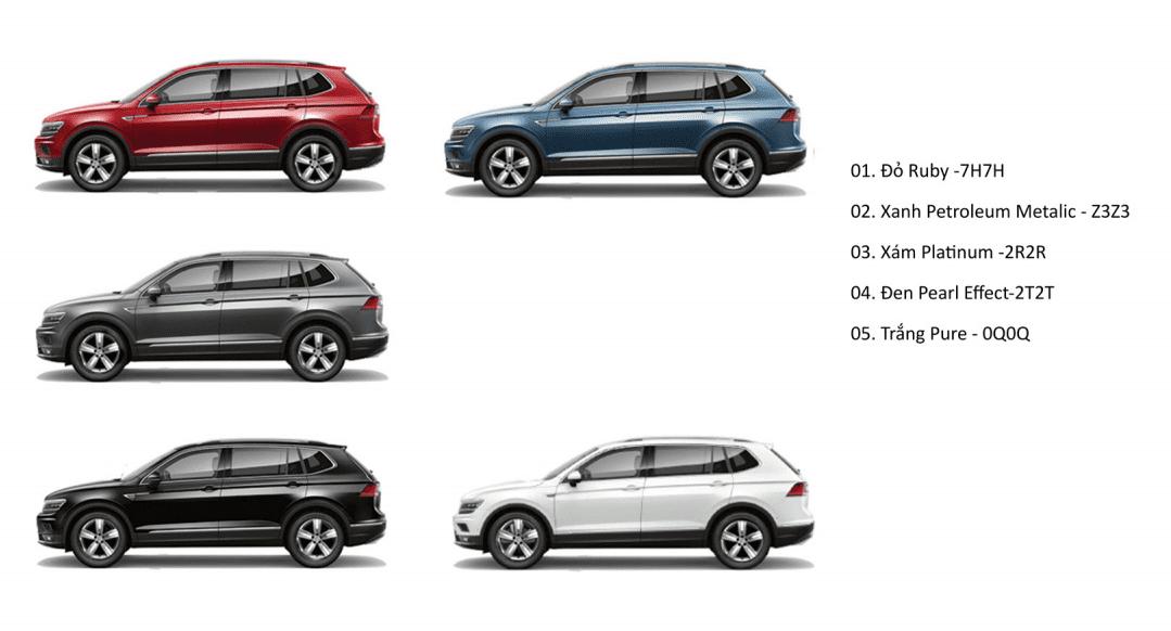 màu Volkswagen Tiguan 2021