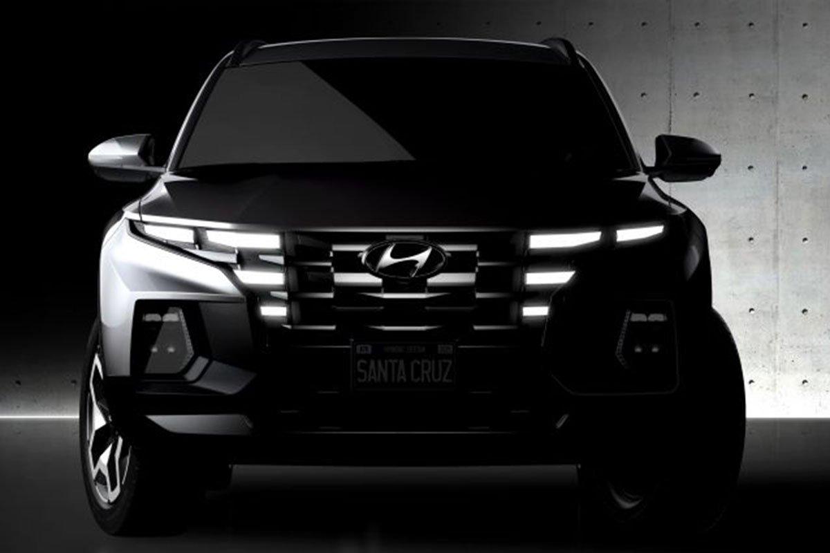Thiết kế đầu xe bán tải Hyundai Santa Cruz 1