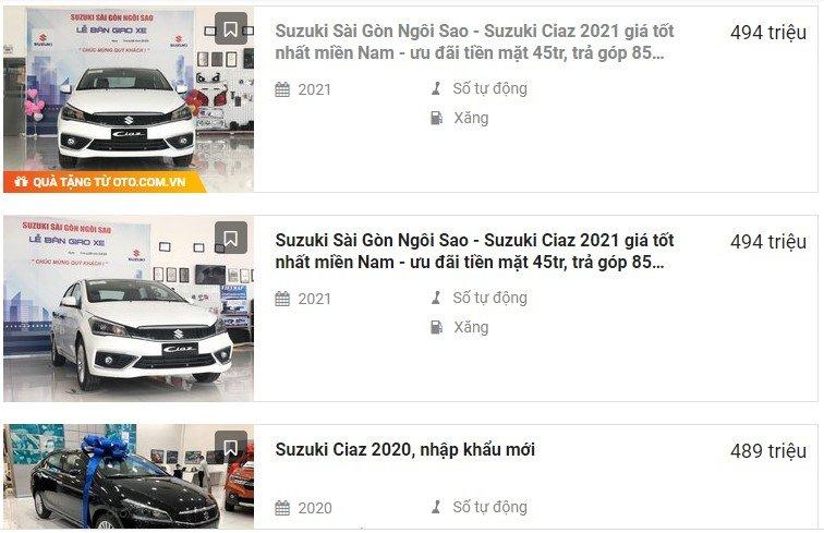 Suzuki Ciaz giảm giá 45 triệu đồng tăng lực cạnh tranh với Hyundai Accent 1