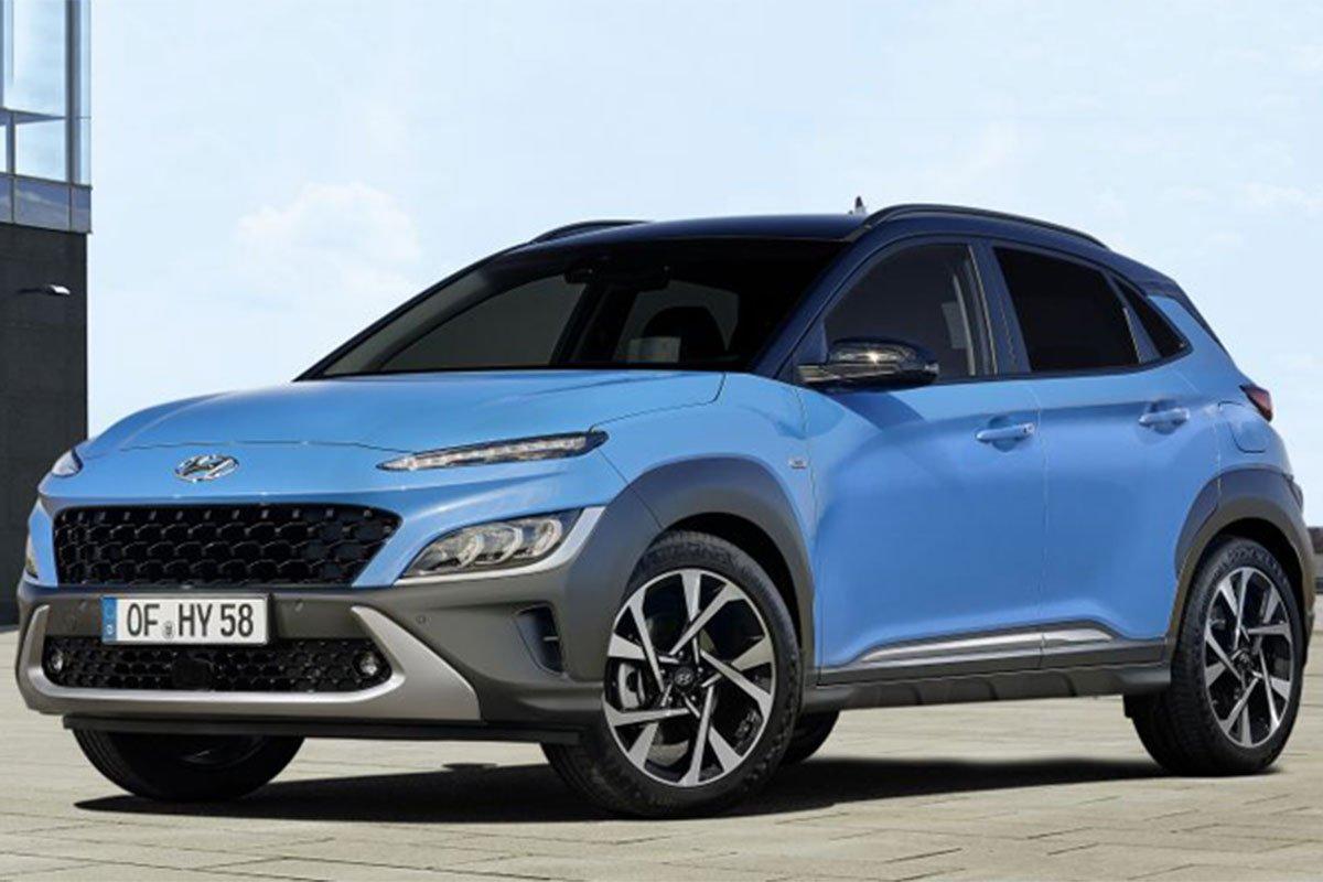 Thiết kế đầu xe Hyundai Kona 2021 1