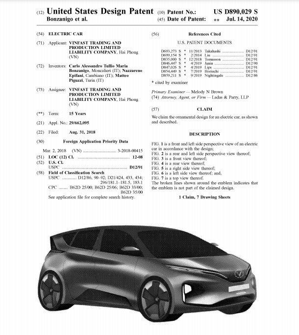 Cận cảnh 2 xe ô tô điện VinFast đăng kí bảo hộ tại Mỹ - Ảnh 2.