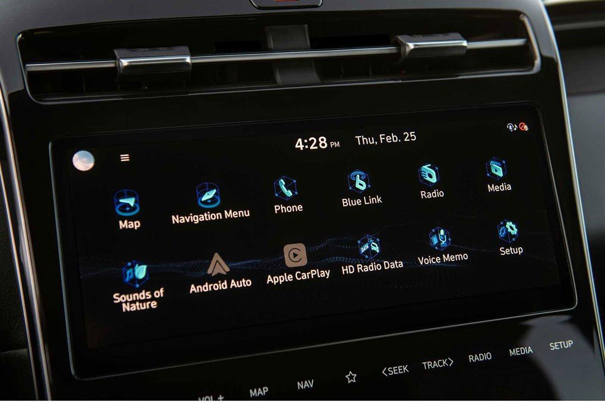 Ảnh Màn hình xe Hyundai Santa Cruz 2022