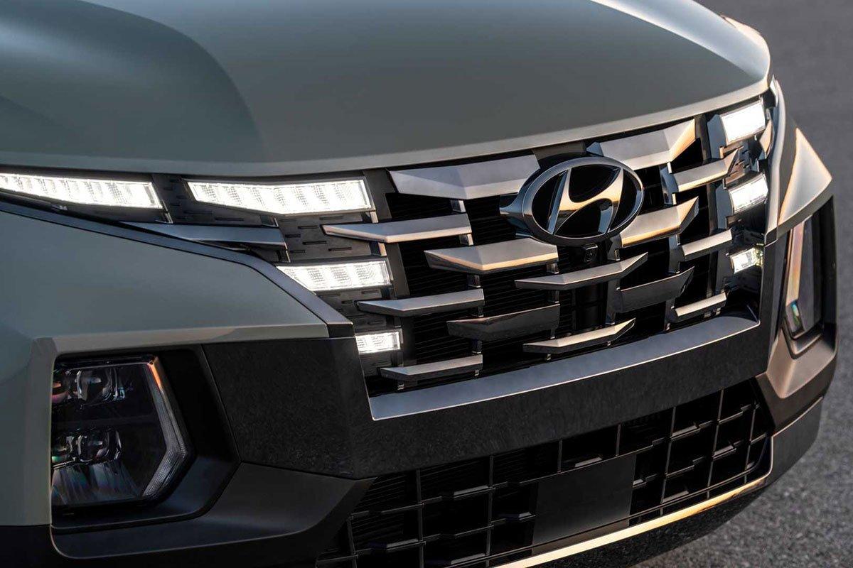 Ảnh Lưới tản nhiệt xe Hyundai Santa Cruz 2022