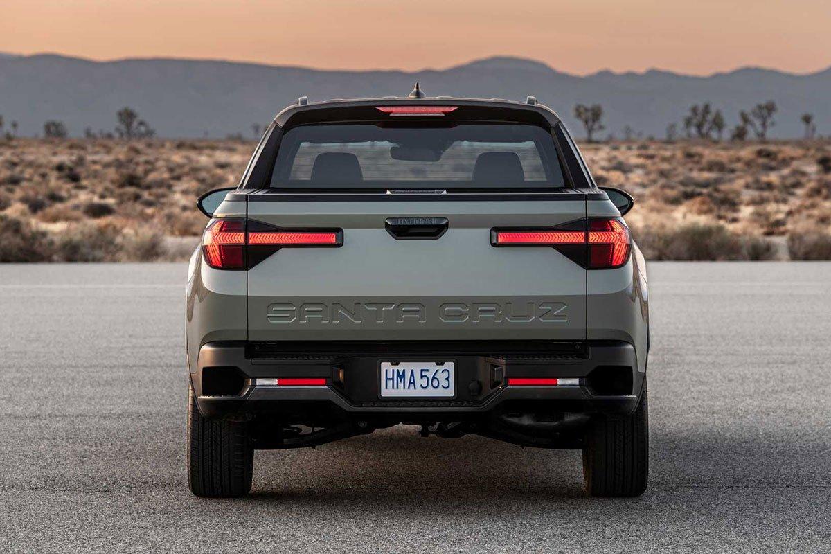 Ảnh Đuôi xe Hyundai Santa Cruz 2022