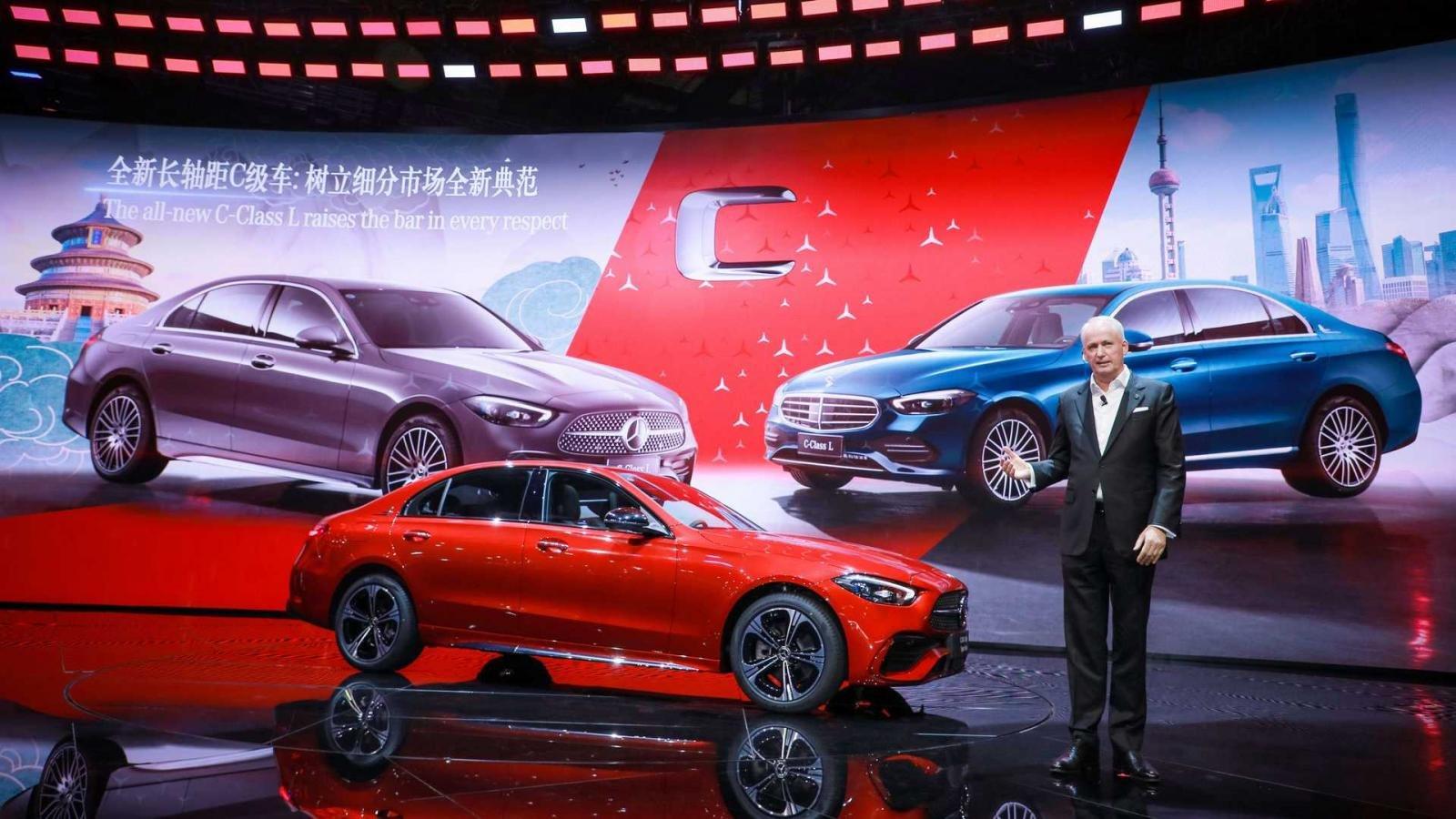 [Auto Shanghai 2021] Mercedes-Benz C-Class L kéo dài dành cho thị trường Trung Quốc.