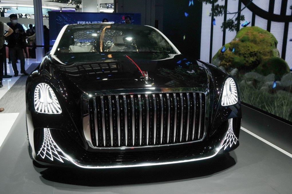 Hongqi L-Concept - Xe Limo Trung Quốc có đèn chùm và không vô lăng - Ảnh 2.