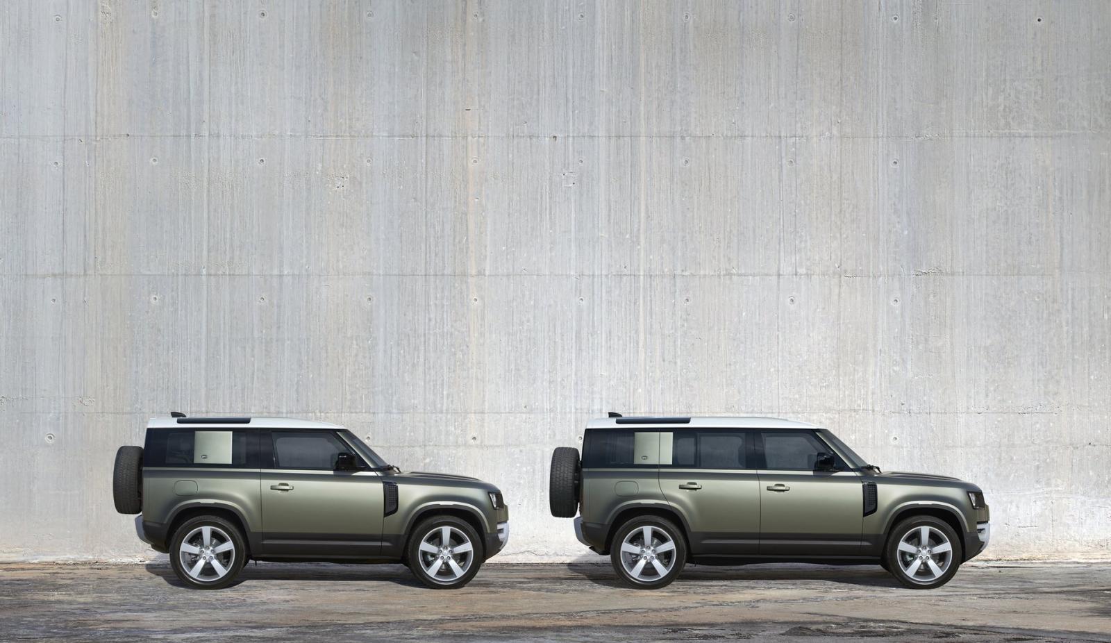 Land Rover Defender 2021 thiết kế đặc trưng, dễ nhận biết.