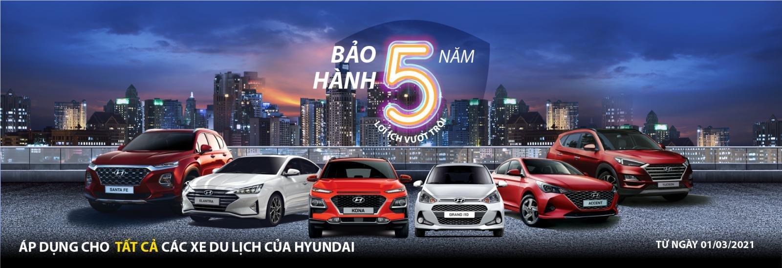 Hyundai Accent 2021 được bảo hành lên tới 5 năm.