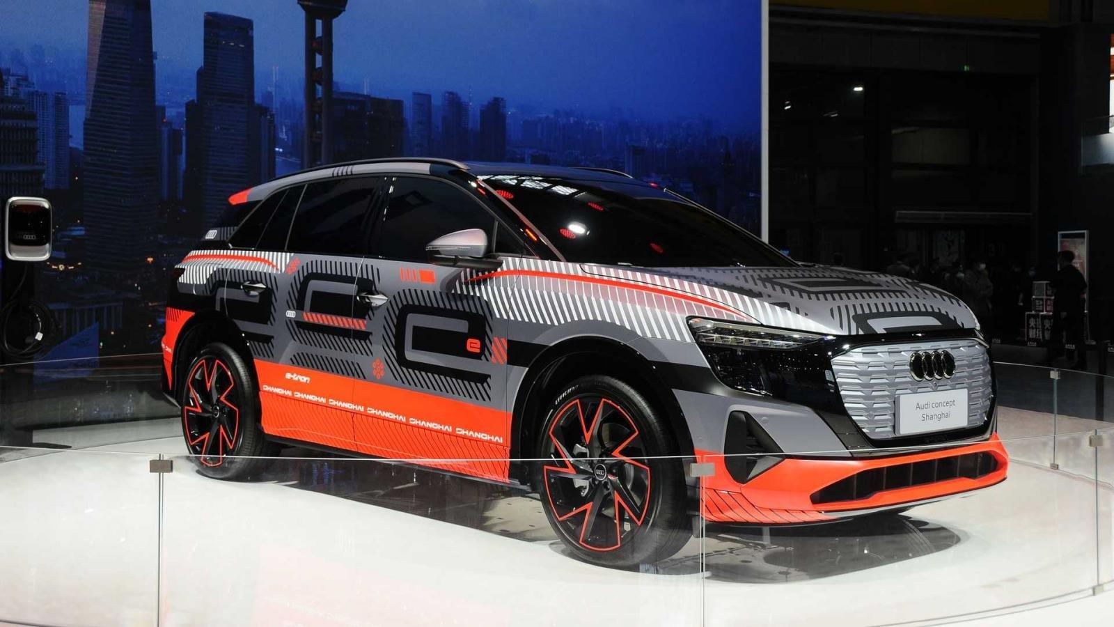 SUV chạy điện mới nhà Audi được trưng bày dưới dạng concept.