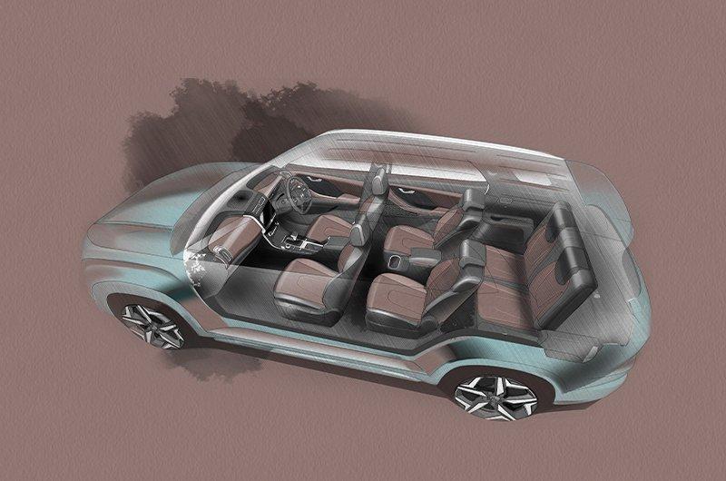 SUV Hyundai Alcazar mạnh mẽ và rộng rãi.