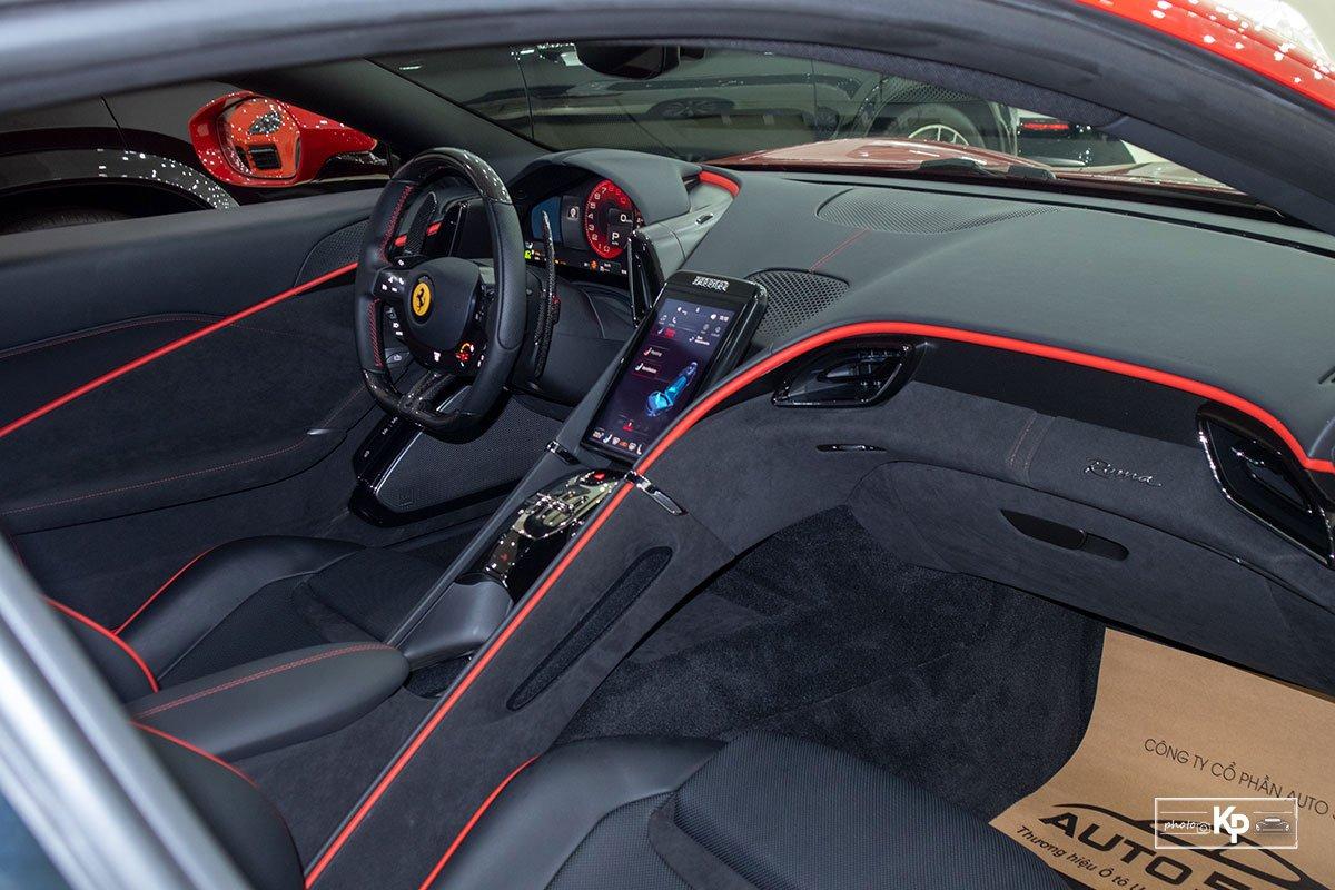 """Cận cảnh xe Ferrari Roma màu đỏ Rosso """"độc nhất"""" Việt Nam a8"""