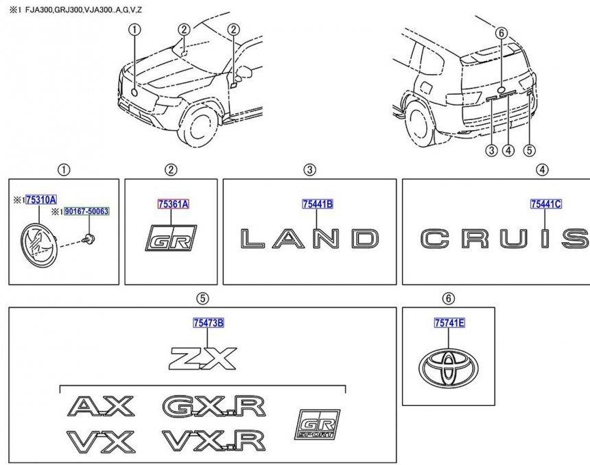 Bản phát thảo Toyota Land Cruiser trước đây.