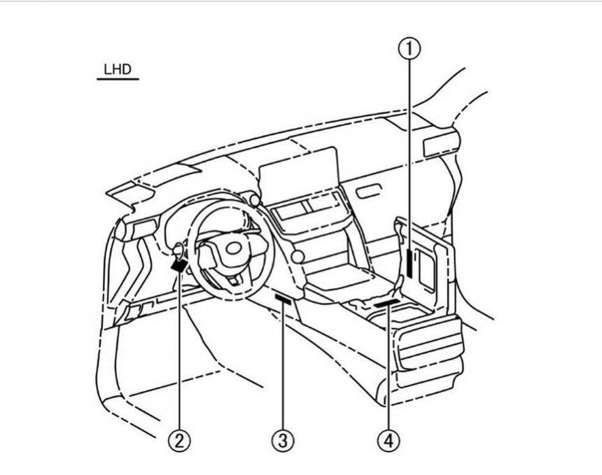 Bản phát thảo nội thất Toyota Land Cruiser .