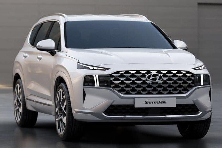 Đại lý trong nước bắt đầu nhận cọc Hyundai Santa Fe 2022.