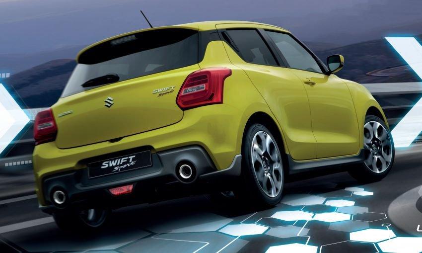 Suzuki Swift Sport 2021 hybrid tại Singapore tăng tốc chậm hơn do trang bị thêm bộ pin điện.
