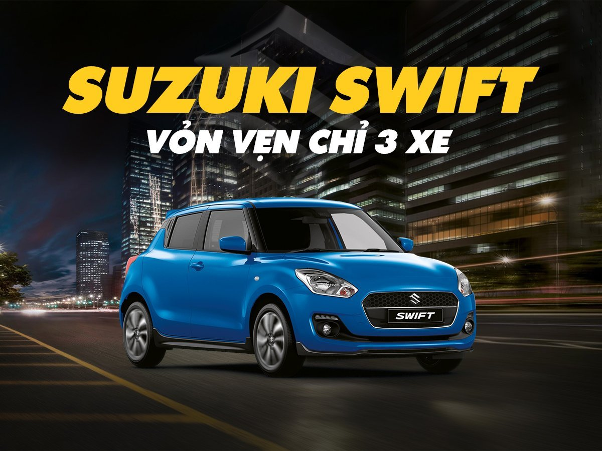 SuzukiSwift là mẫu xe có doanh số thấp nhất thị trường với 3 chiếc giao đến tay khách hàng 1