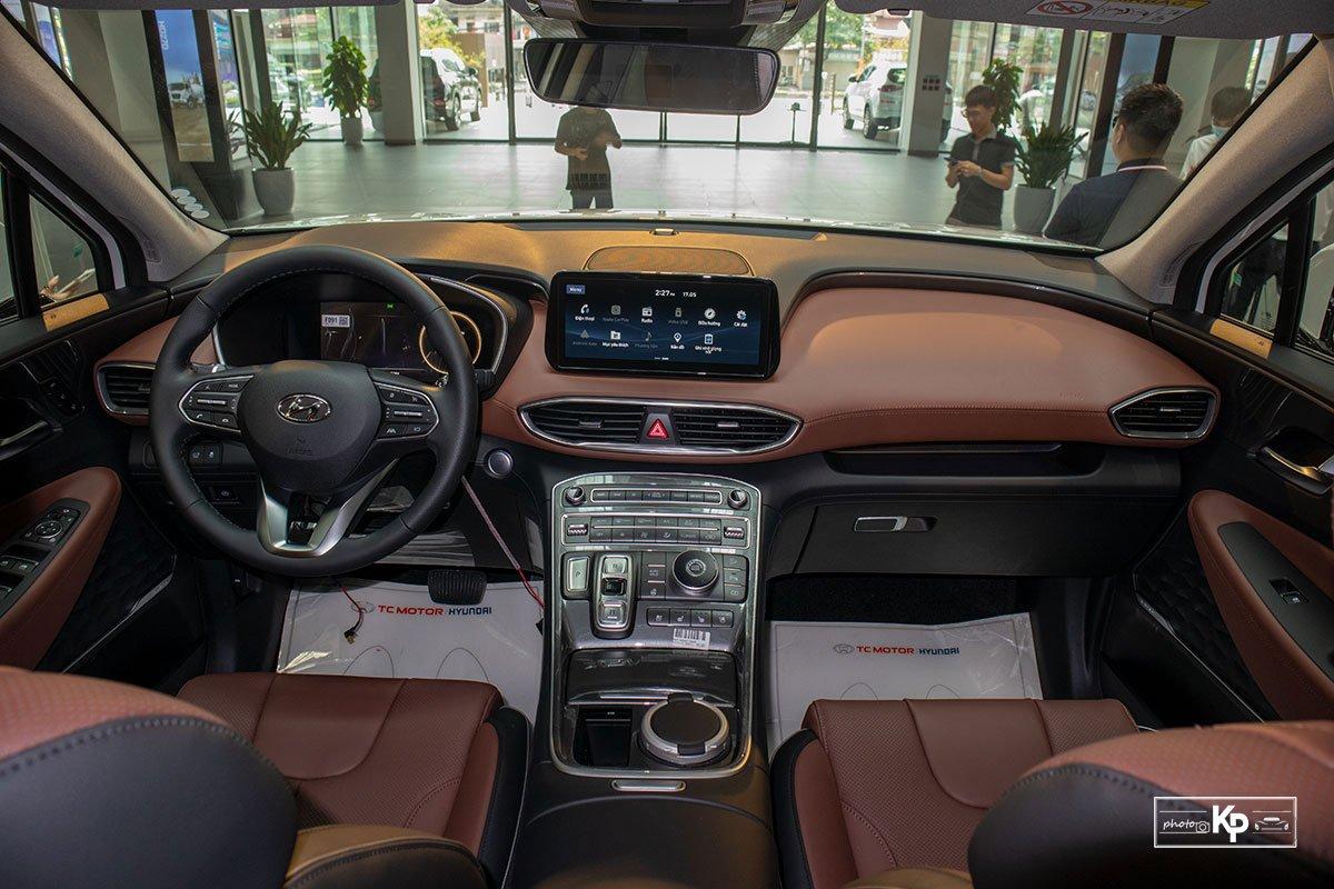Ảnh Khoang lái xe Hyundai Santa Fe 2021