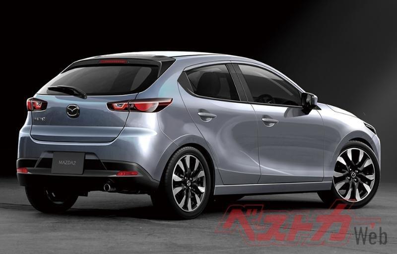 Mazda 2 Hybrid 2022 mới có thể thừa hưởng công nghệ Hybrid từ Toyota.