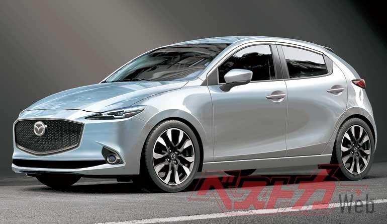 Mazda 2 Hybrid 2022 mới sẽ có thể lấy cảm hứng từ Yaris.