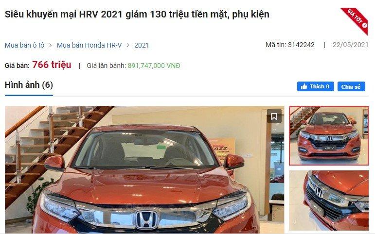 Honda HR-V giảm giá sốc, đại lý cam đoan giúp khách 'tiết kiệm' 130 triệu đồng