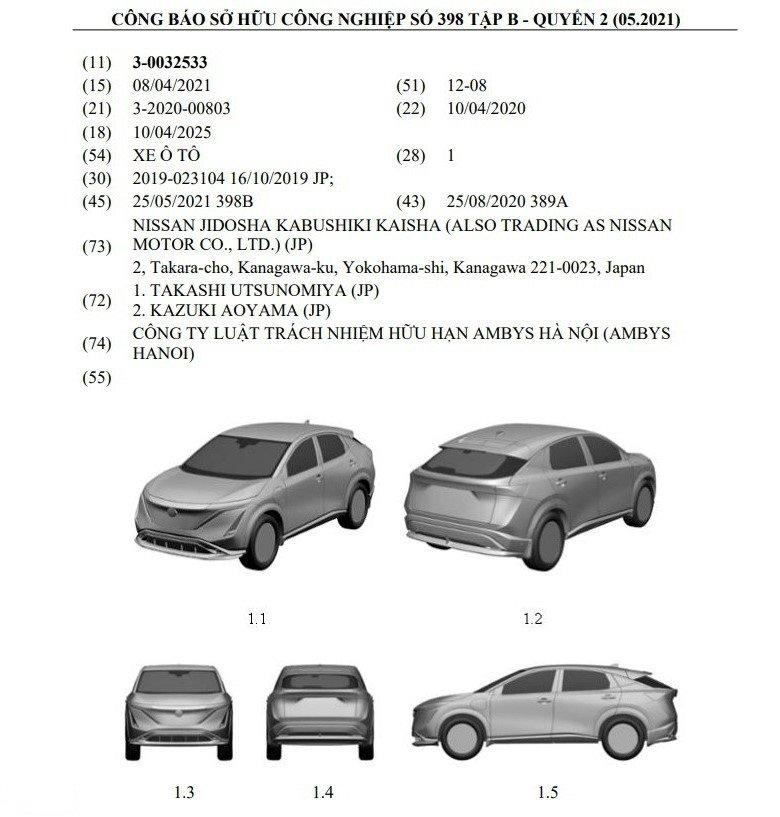 Đại diện Nissan cho biết việc đăng kýbản quyền tại Việt Nam không đồng nghĩa với việc xe sẽ được phân phối 1