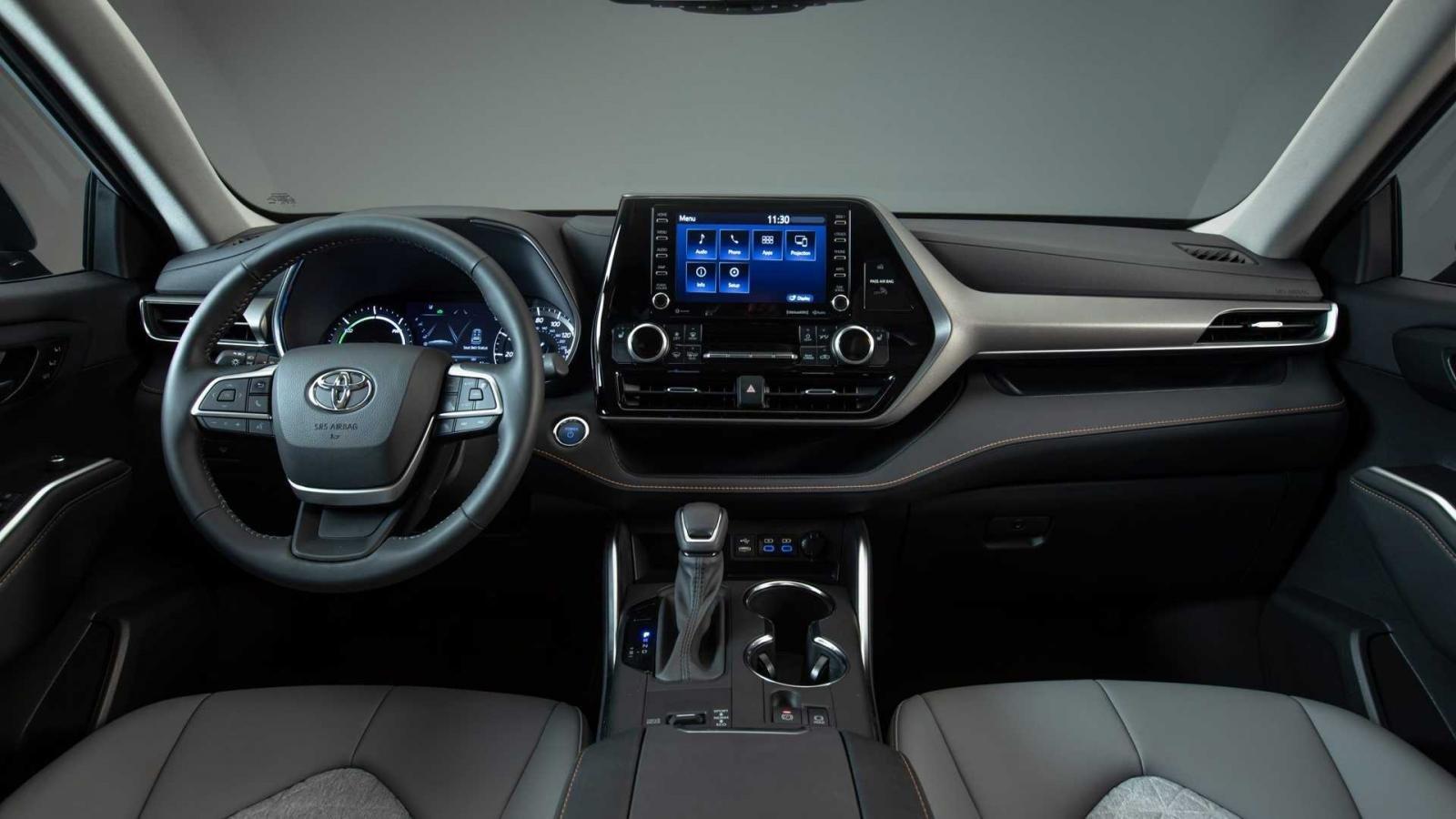 Toyota Highlander 2022 Bronze Edition tích hợp bộ công nghệ tối tân.