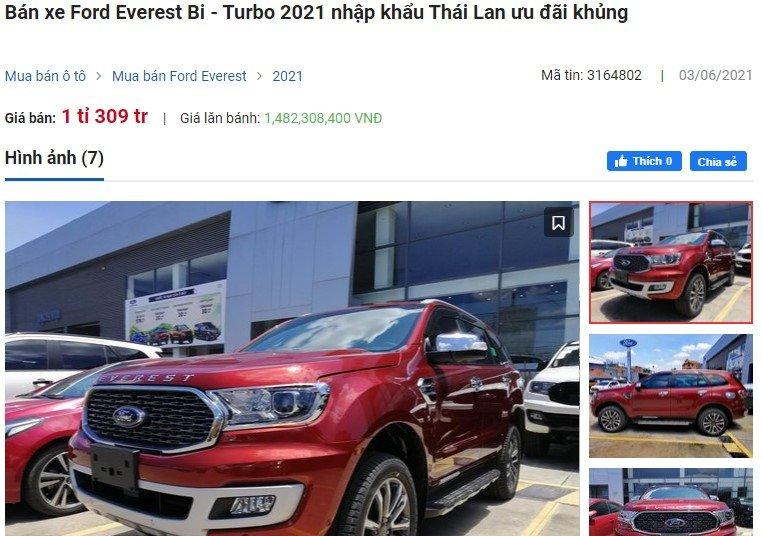 Ford Everest tại đại lý giảm sốc 100 triệu, buộc Fortuner phải hạ giá kéo khách a2