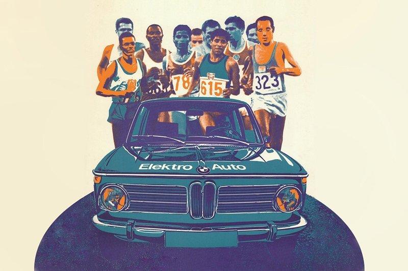 BMW 1602 Elektro-Antrieb xuất hiện tại Thế vận hội Olympic 1972.