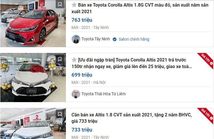 Toyota Corolla Altis giảm giá sốc, tặng phụ kiện 1