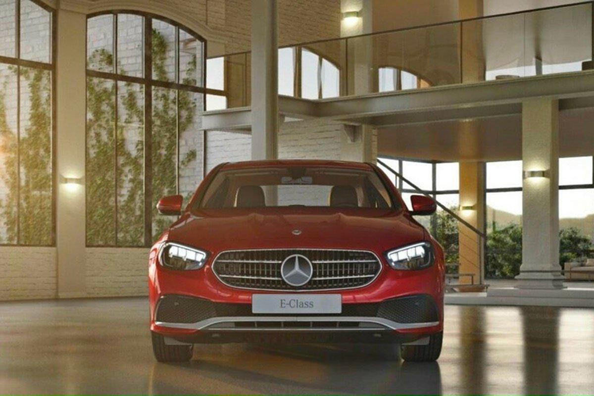 đầu xe Mercedes-Benz E180 2021.