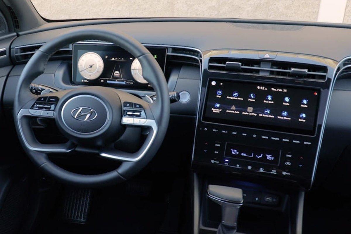 Nội thất Hyundai Santa Cruz 2022.