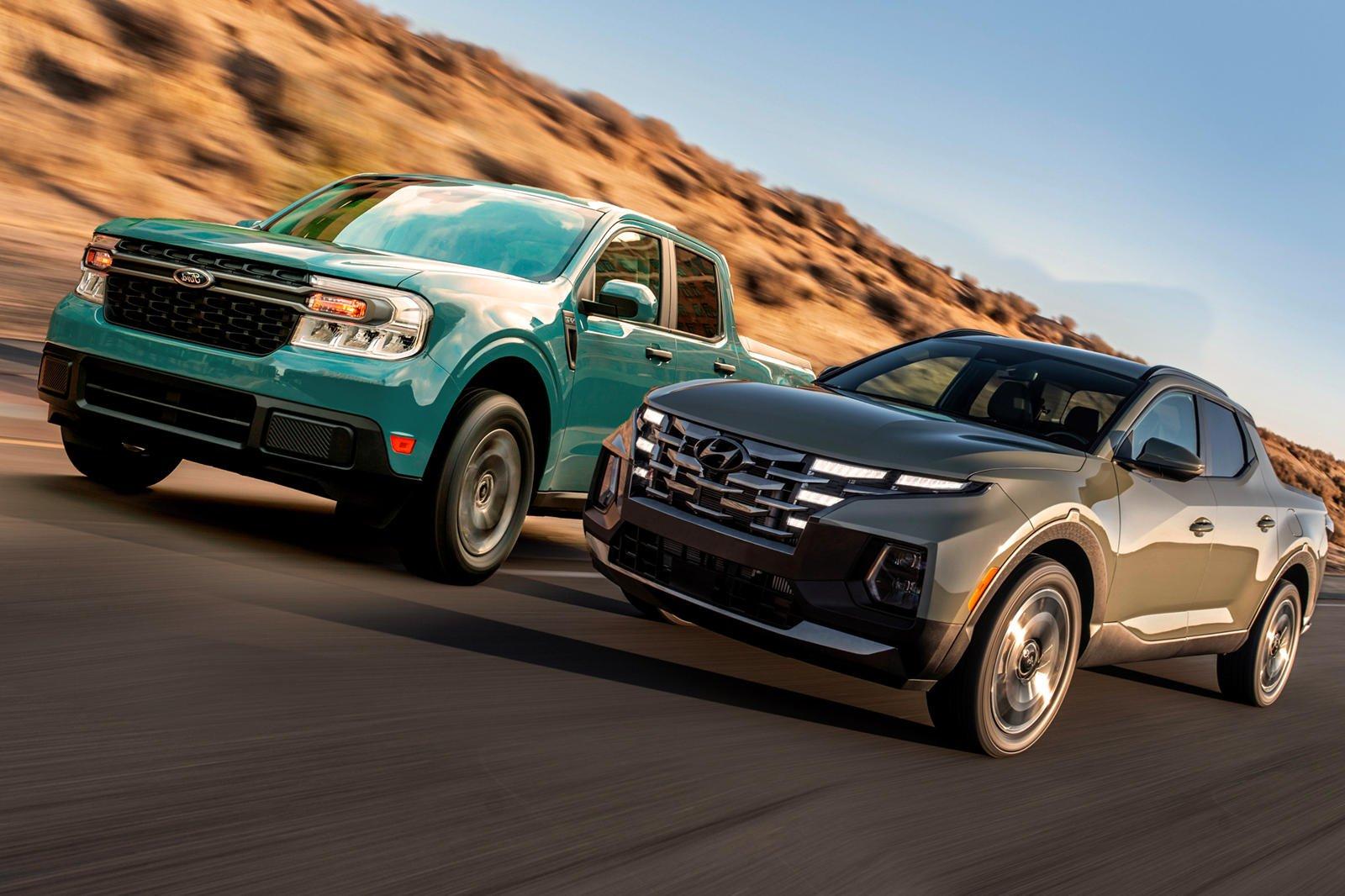 Ford Maverick và Hyundai Santa Cruz 2022.