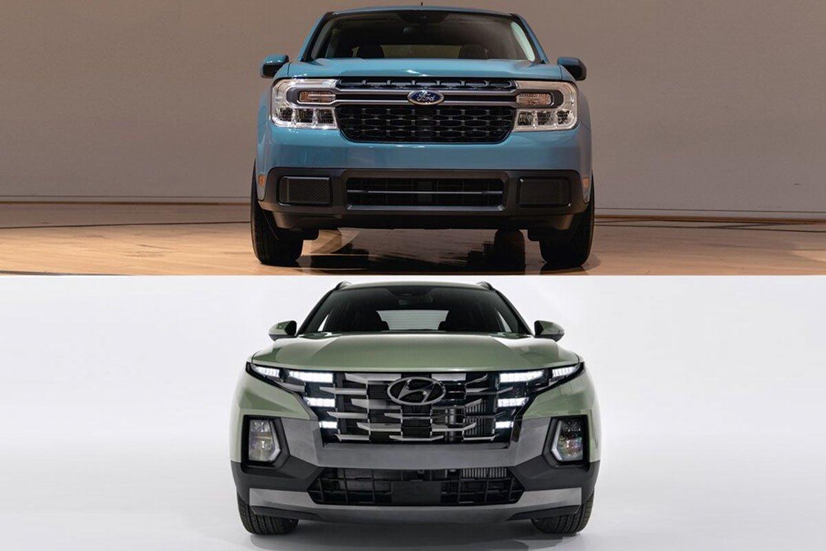 so sánh Ford Maverick và Hyundai Santa Cruz.