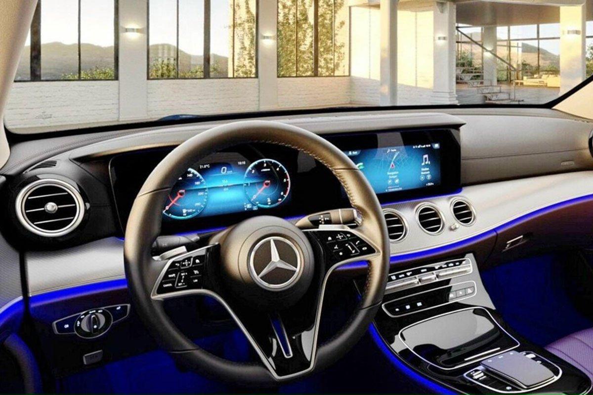 Nội thất của Mercedes-Benz E180 2021 nâng cấp vẫn giữ nguyên so với đời cũ.