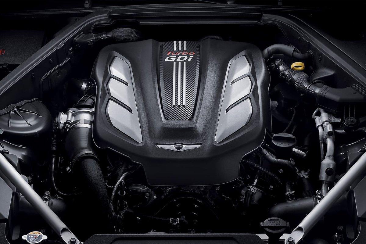 Genesis G90 2022 sẽ sử dụng động cơ tăng áp kép Smartstream V6 3.5 L.