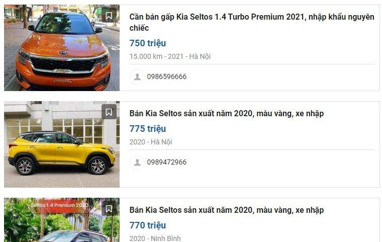 """Kia Seltos chạy lướt lên sàn xe cũ, giá """"chát"""" hơn mua mới a2"""