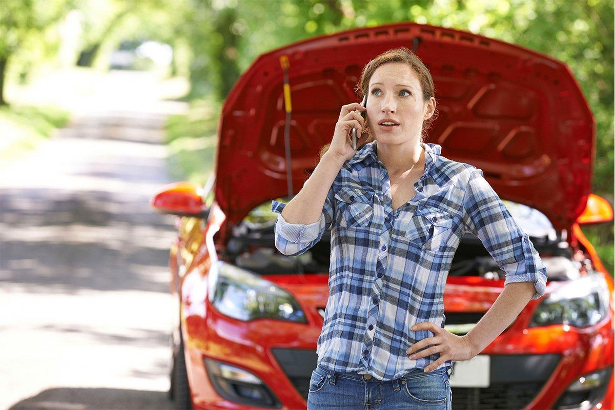 Hãy dừng xe và gọi ngay cứu hộ.