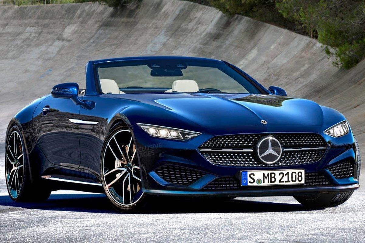 Mercedes cũng tái khởi động dự án xe thể thao mui trần tầm trung với SL 2021.