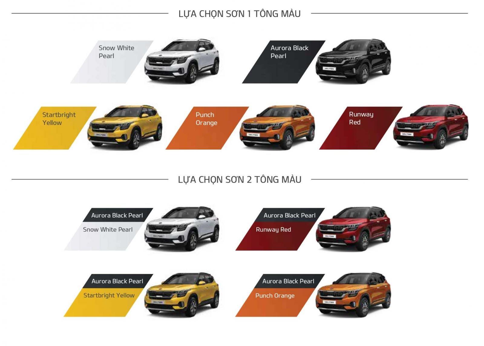 Xe Kia Seltos có 9 màu sắc cho người dùng lựa chọn