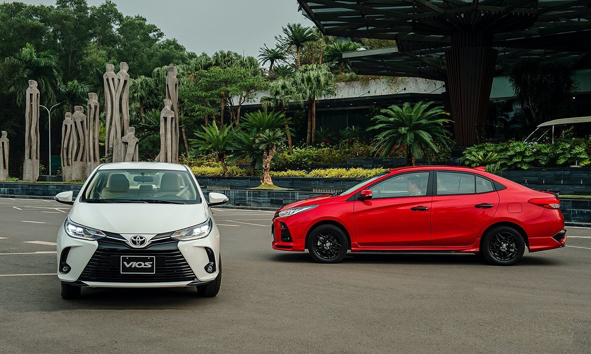 Xe Toyota Vios 5 chỗ có mức giá tương đối cao.