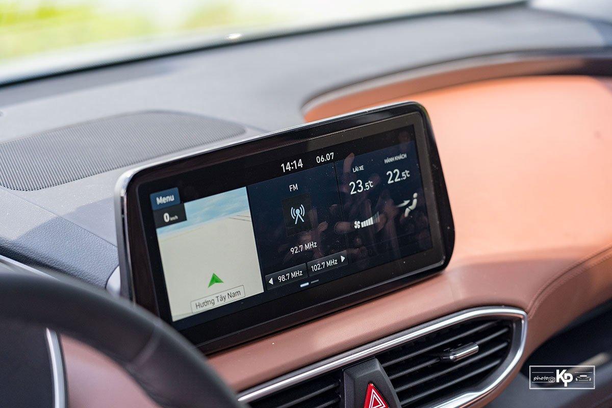 Ảnh Màn hình xe Hyundai Santa Fe 2021