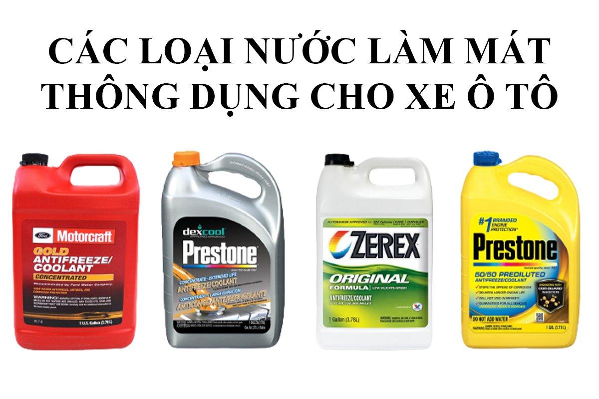 Mỗi loại nước.làm mát có tác dụng khác nhau trên từng loại xe.