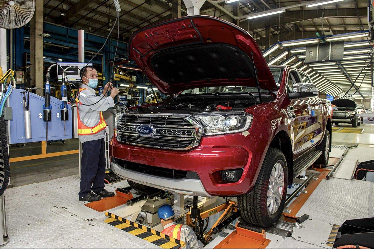 Ford Ranger đang được lắp ráp tại Việt Nam.